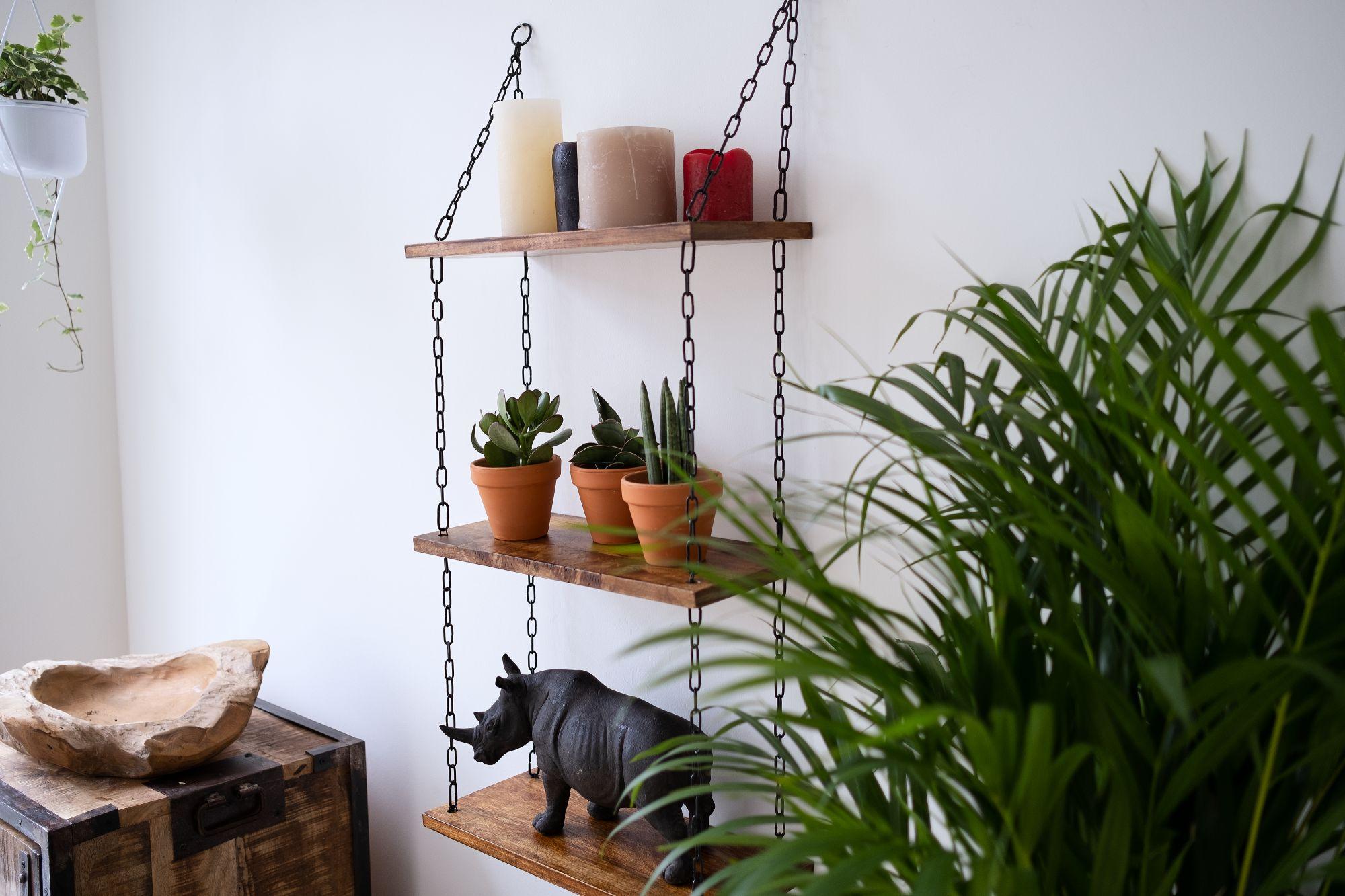 3 tier floating shelves